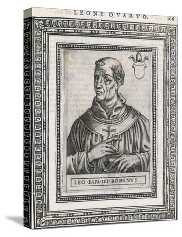 Pope Leo IV Pope and Saint- Cavallieri-Stretched Canvas Print