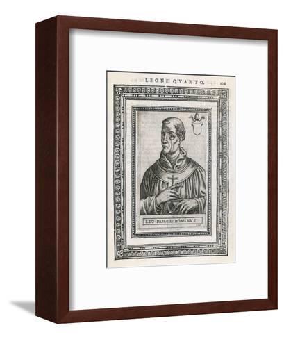 Pope Leo IV Pope and Saint- Cavallieri-Framed Art Print