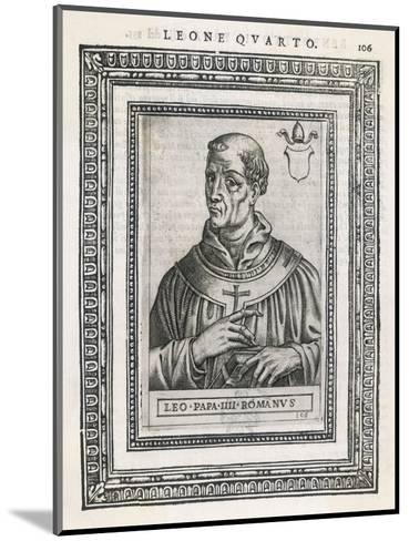 Pope Leo IV Pope and Saint- Cavallieri-Mounted Giclee Print