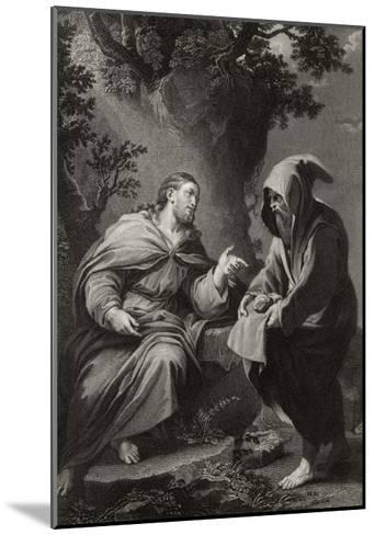 Jesus is Tempted by Satan in the Wilderness, Command This Stone That It be Made Bread-Francis Holl-Mounted Giclee Print
