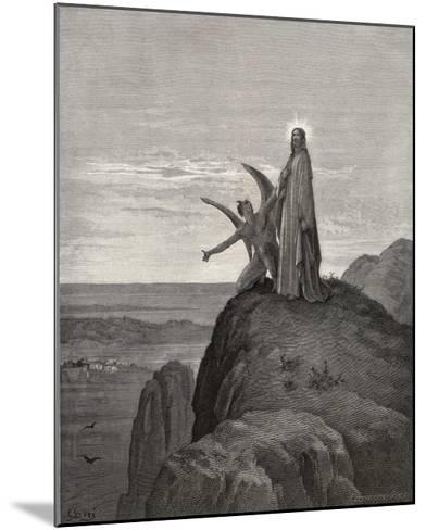 Jesus is Tempted by Satan in the Wilderness-Gustave Dor?-Mounted Giclee Print