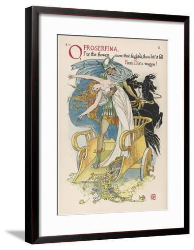 Persephone is Abducted by Hades-Walter Crane-Framed Art Print