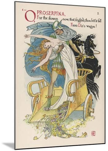 Persephone is Abducted by Hades-Walter Crane-Mounted Giclee Print