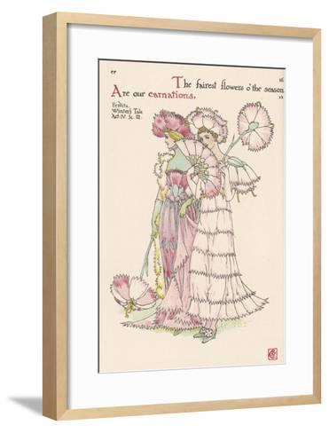 Carnations Personified-Walter Crane-Framed Art Print