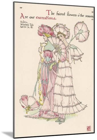 Carnations Personified-Walter Crane-Mounted Giclee Print