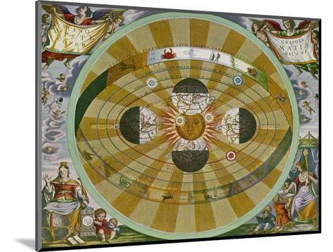 Representation of His System Showing Earth Circling the Sun-Andreas Cellarius-Mounted Giclee Print