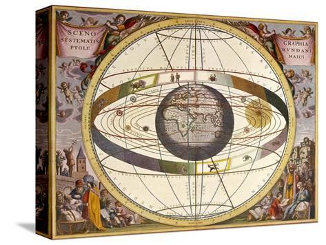 Representation of Ptolemy's System Showing Earth-Andreas Cellarius-Stretched Canvas Print