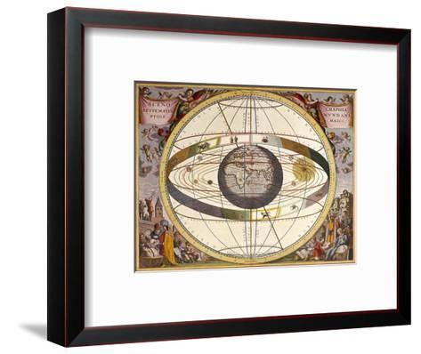 Representation of Ptolemy's System Showing Earth-Andreas Cellarius-Framed Art Print