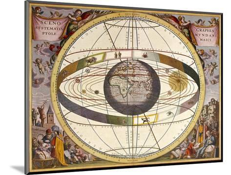 Representation of Ptolemy's System Showing Earth-Andreas Cellarius-Mounted Giclee Print