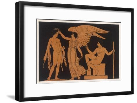 An Athlete is Crowned by Victory-George Scharf-Framed Art Print