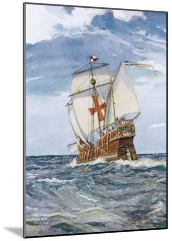 Columbuss Caravel Formerly the Marigalante-C^p^ Carruthers-Mounted Giclee Print