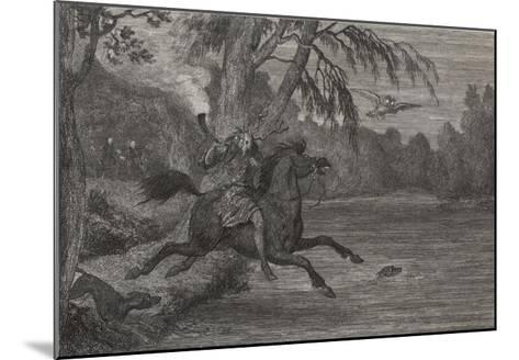 Herne the Hunter Herne the Hunter Plunges into the Lake-George Cruikshank-Mounted Giclee Print