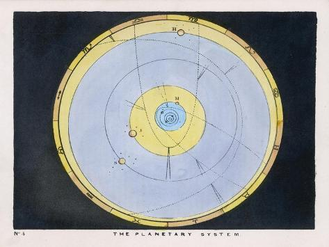 The Planetary System-Charles F^ Bunt-Stretched Canvas Print