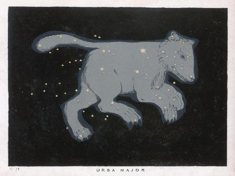 Ursa Major: The Constellation is Composed at First Sight of Seven Conspicuous Stars-Charles F^ Bunt-Stretched Canvas Print