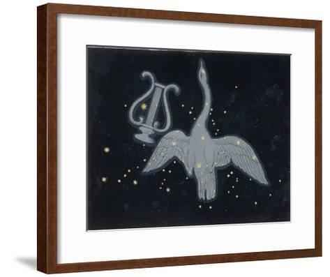 The Constellation of Cygnus, a Flying Swan, and Lyra, That of an Ancient Greek Lyre-Charles F^ Bunt-Framed Art Print