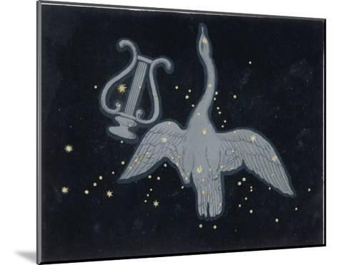The Constellation of Cygnus, a Flying Swan, and Lyra, That of an Ancient Greek Lyre-Charles F^ Bunt-Mounted Giclee Print