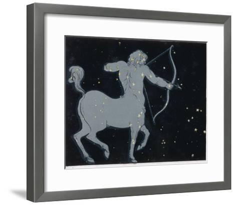 The Constellation of Sagittarius Half Man and Half Horse with a Bow and Arrow-Charles F^ Bunt-Framed Art Print