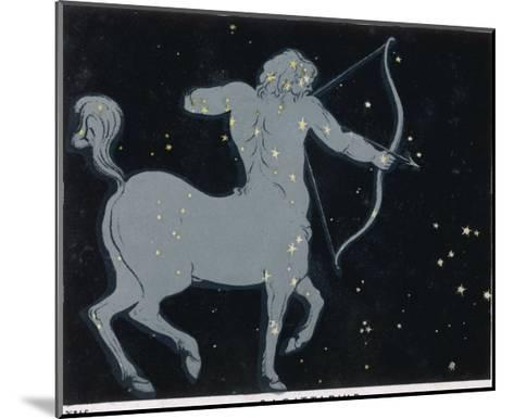 The Constellation of Sagittarius Half Man and Half Horse with a Bow and Arrow-Charles F^ Bunt-Mounted Giclee Print