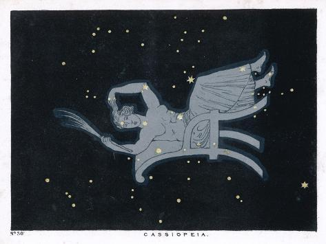 The Constellation of Cassiopeia a Woman Seated-Charles F^ Bunt-Stretched Canvas Print