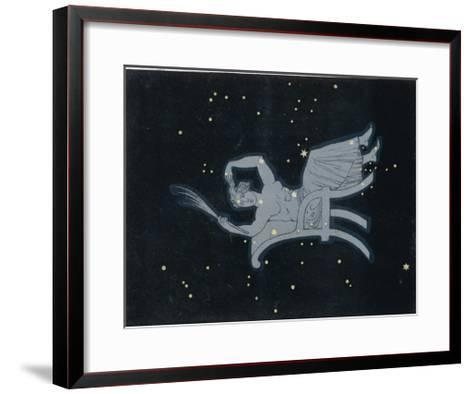 The Constellation of Cassiopeia a Woman Seated-Charles F^ Bunt-Framed Art Print