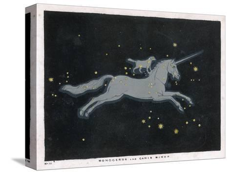 The Constellation of Monoceros, a Unicorn, and Canis Minor, a Small Dog-Charles F^ Bunt-Stretched Canvas Print