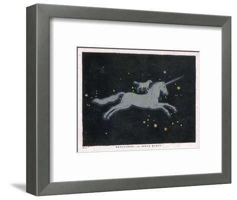 The Constellation of Monoceros, a Unicorn, and Canis Minor, a Small Dog-Charles F^ Bunt-Framed Art Print