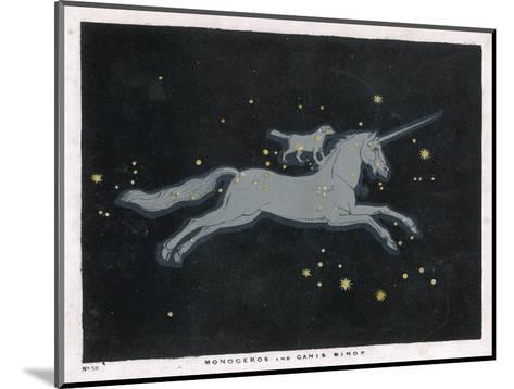 The Constellation of Monoceros, a Unicorn, and Canis Minor, a Small Dog-Charles F^ Bunt-Mounted Giclee Print