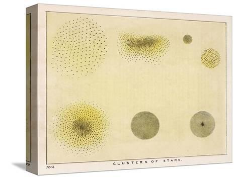 Diagram Showing Various Clusters of Stars-Charles F^ Bunt-Stretched Canvas Print