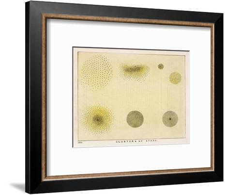 Diagram Showing Various Clusters of Stars-Charles F^ Bunt-Framed Art Print