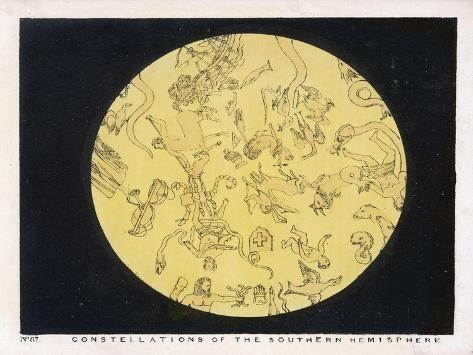 Constellations of the Southern Hemisphere-Charles F^ Bunt-Stretched Canvas Print