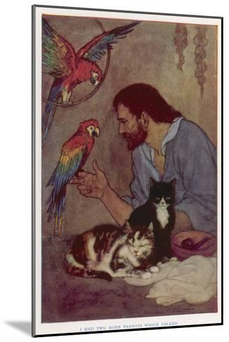 Robinson Crusoe with His Parrots and Cats-Elenore Plaisted Abbott-Mounted Giclee Print