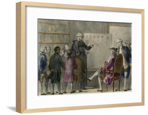 Abbe De L'Epee French Inventor of a Sign Language to Enable Deaf-Mutes to Communicate-Albert Chereau-Framed Art Print