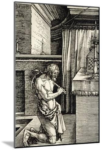 Man Flagellates Himself as Penance for His Sins-Albrecht D?rer-Mounted Giclee Print