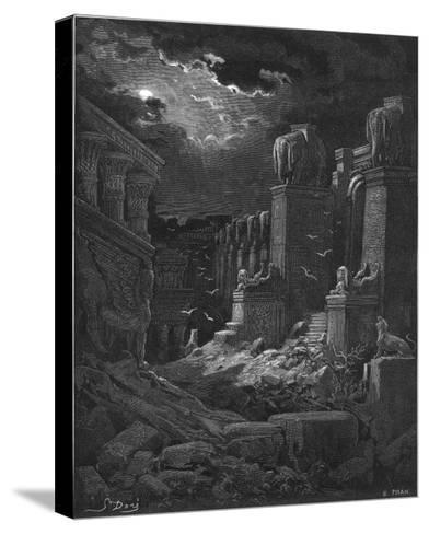 Fall of Babylon-Gustave Dor?-Stretched Canvas Print