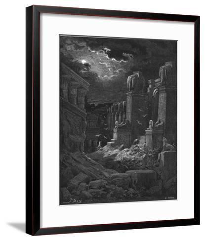 Fall of Babylon-Gustave Dor?-Framed Art Print