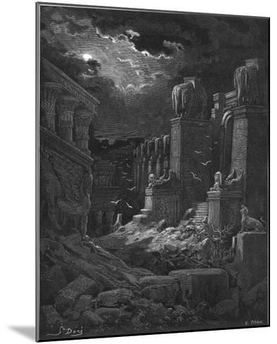 Fall of Babylon-Gustave Dor?-Mounted Giclee Print