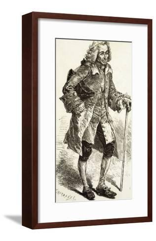 Francois-Marie Arouet the French Writer and Philosopher in Old Age-C.h. Barbant-Framed Art Print