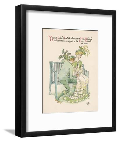 Flower Wedding Described by Two Wallflowers Lad's Love Courts Miss Meadowsweet-Walter Crane-Framed Art Print