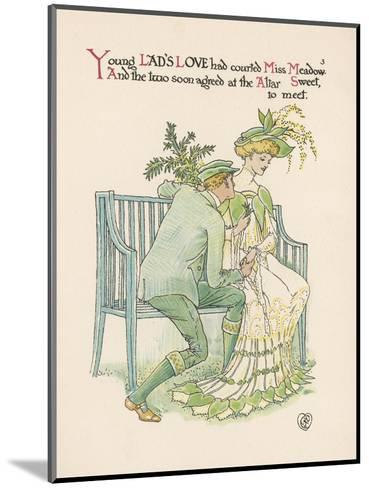 Flower Wedding Described by Two Wallflowers Lad's Love Courts Miss Meadowsweet-Walter Crane-Mounted Giclee Print