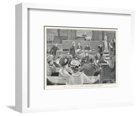 Trial in the Divorce Court London: Cross-Examining a Witness-J^ Barnard Davis-Framed Art Print