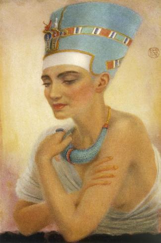 Queen Nefertiti-Winifred Brunton-Stretched Canvas Print