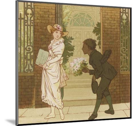 The Queen of the May is Presented with a Bouquet of Flowers by a Chimney Sweep-Robert Dudley-Mounted Giclee Print