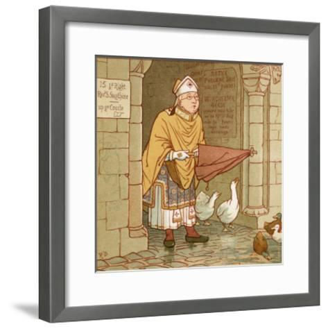 According to Tradition if It Rains-Robert Dudley-Framed Art Print