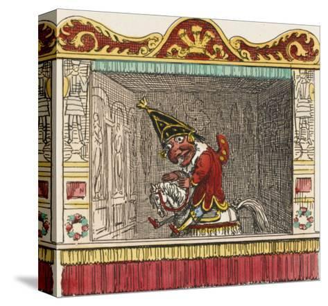 Punch on His Steed-George Cruikshank-Stretched Canvas Print
