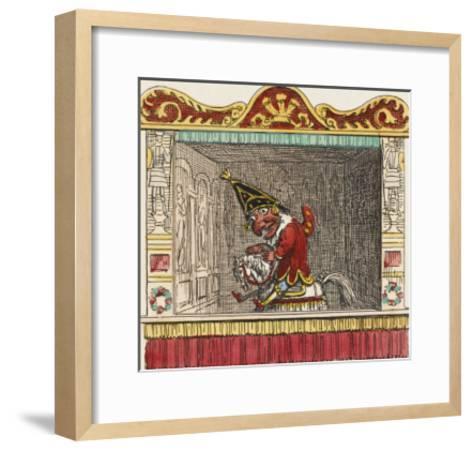 Punch on His Steed-George Cruikshank-Framed Art Print