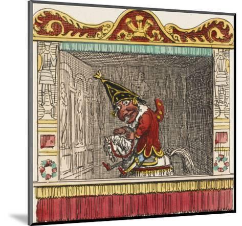 Punch on His Steed-George Cruikshank-Mounted Giclee Print