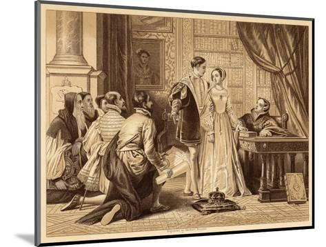 Lady Jane Greys Reluctance to Accept the Crown Pictured Here with Lord Guildford Dudley Her Husband-Herbert Bourne-Mounted Giclee Print