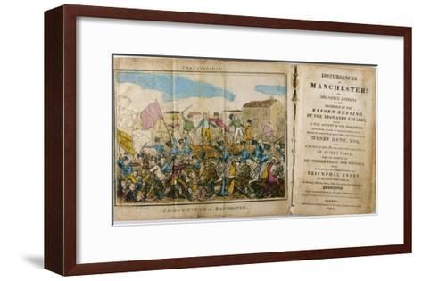 Yeomanry Charge a Crowd Gathered in Manchester to Hear Speeches Supporting Parliamentary Reform- Atkins-Framed Art Print