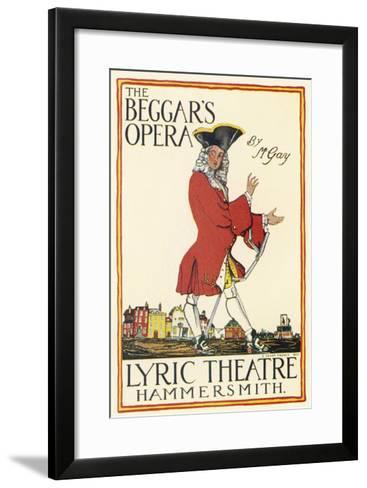 Poster for Production at the Lyric Theatre Hammersmith-Charles Lovat-Framed Art Print