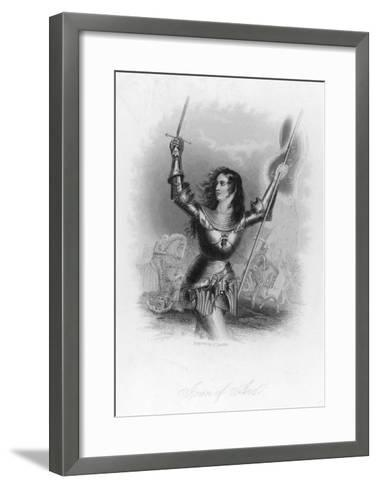 Joan of Arc French Heroine in Armour on the Battlefield-Jc Buttre-Framed Art Print